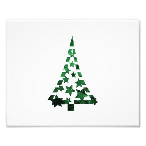 Christmas Tree stars n dashes mottled green Photograph
