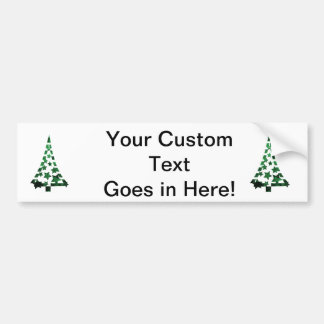 Christmas Tree stars n dashes mottled green png Bumper Stickers