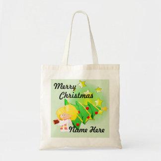 Christmas Tree & Stars Tote Bag