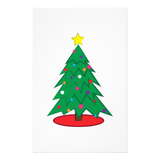 Christmas Tree Personalized Stationery