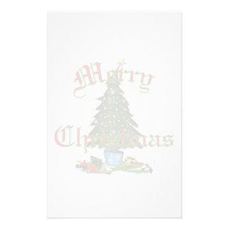 "Christmas Tree Stationery  5.5x8.5"""