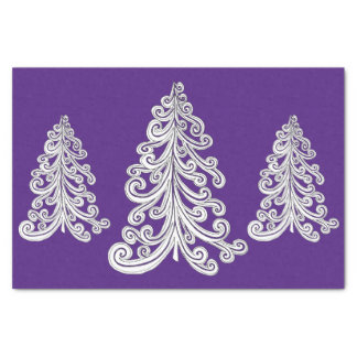 Christmas Tree Swirly Cut Out Tissue Paper