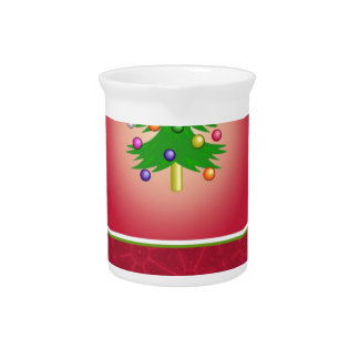 Christmas Tree Template Pitcher