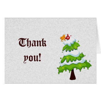 Christmas Tree Thank You Cards
