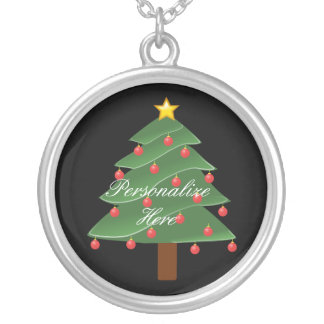 Christmas Tree Thunder_Cove Silver Plated Necklace