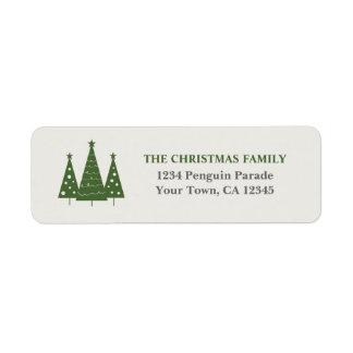 Christmas Tree Trio Return Address Label