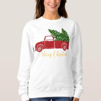 Christmas tree truck Women's Sweatshirt
