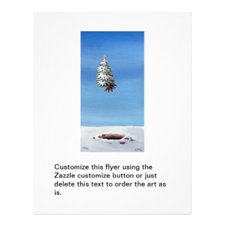 Christmas tree uprooted flying off holiday travel 21.5 cm x 28 cm flyer