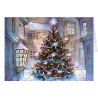 Christmas Tree Vintage Card