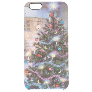 Christmas Tree Vintage Clear iPhone 6 Plus Case