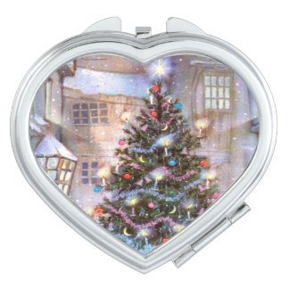 Christmas Tree Vintage Compact Mirror