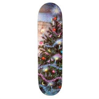 Christmas Tree Vintage Custom Skate Board