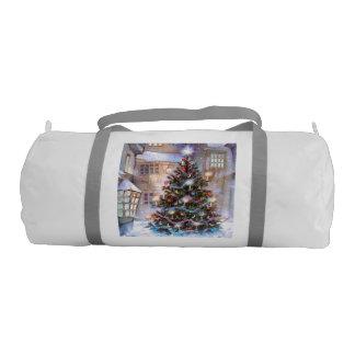 Christmas Tree Vintage Gym Duffel Bag