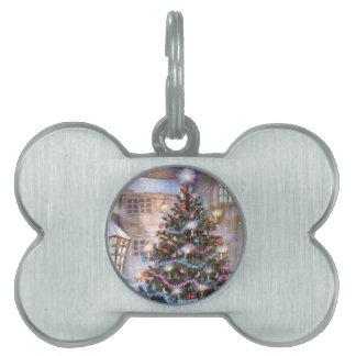 Christmas Tree Vintage Pet ID Tag