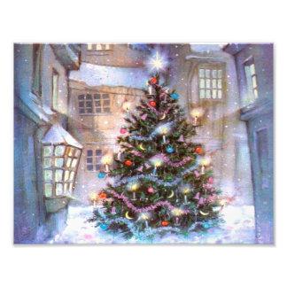 Christmas Tree Vintage Photo Print