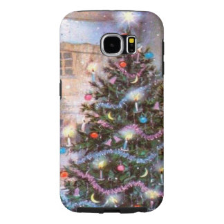 Christmas Tree Vintage Samsung Galaxy S6 Cases