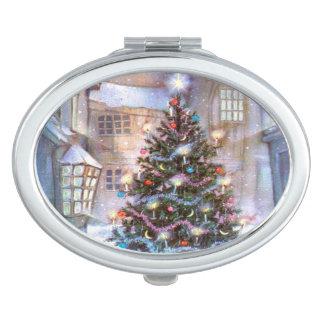 Christmas Tree Vintage Travel Mirrors