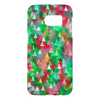 Christmas Tree Watercolor Pattern
