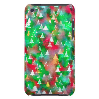 Christmas Tree Watercolor Pattern Case-Mate iPod Touch Case