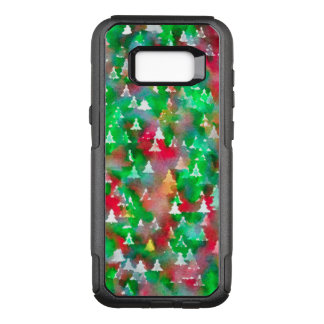 Christmas Tree Watercolor Pattern OtterBox Commuter Samsung Galaxy S8+ Case