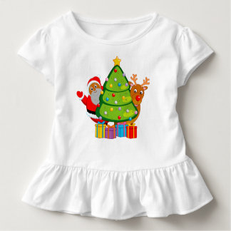 Christmas tree with a black Santa Claus & Rudolph, Toddler T-Shirt