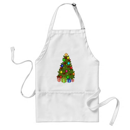 Christmas Tree with Decorations Apron
