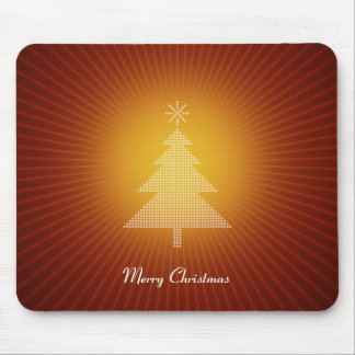 Christmas tree with orange illumination mouse pad