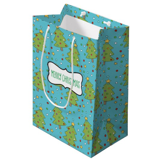 Christmas Tree with Ornaments Gift Bag (Medium)