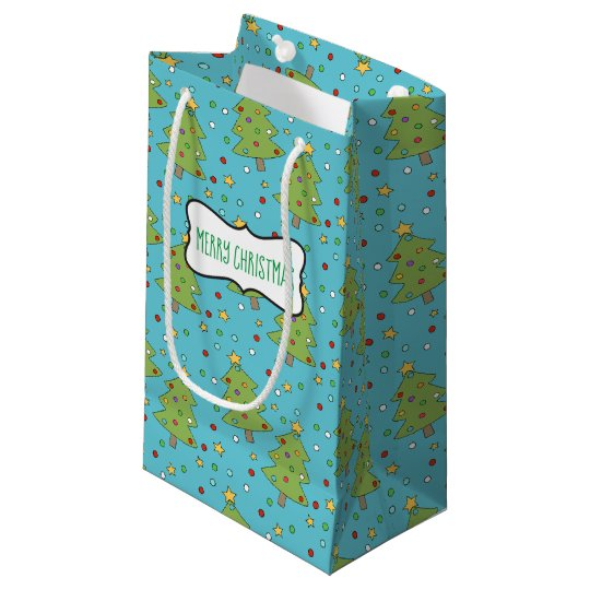 Christmas Tree with Ornaments Gift Bag (Small)