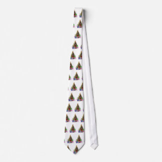 Christmas Tree with Presents Tie