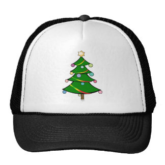 Christmas Tree with Rasta Garland Cap