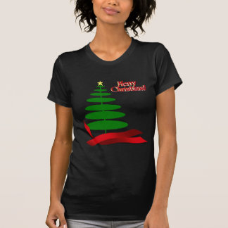 Christmas Tree with Red Ribbon T-Shirt