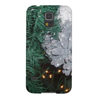 Christmas Tree with Silver Pine Cone Galaxy Nexus Case