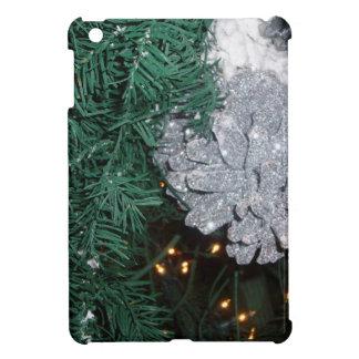 Christmas Tree with Silver Pine Cone iPad Mini Case