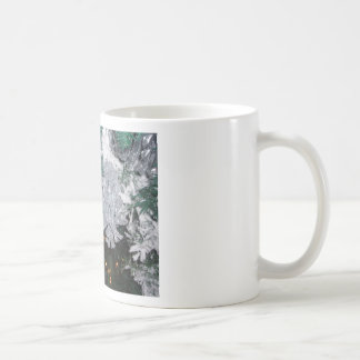 Christmas Tree with Silver Pine Cone Mugs