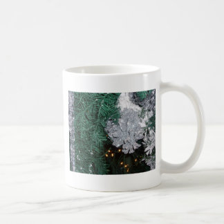 Christmas Tree with Silver Pine Cone Coffee Mugs