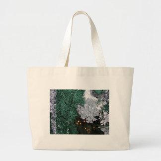 Christmas Tree with Silver Pine Cone Jumbo Tote Bag