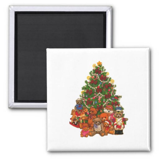 Christmas Tree with Toys Magnet