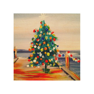 CHRISTMAS TREE WOOD WALL DECOR
