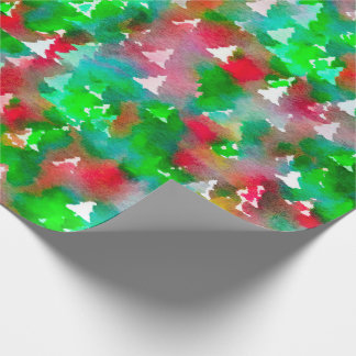 Christmas Tree Wrapping Paper Watercolor