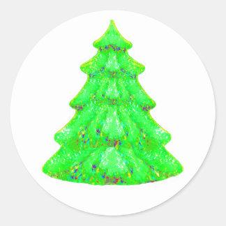 Christmas Tree Yellow Green White OL The MUSEUM Za Sticker