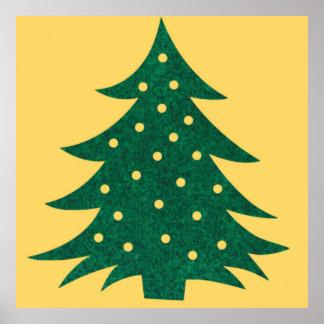 christmas tree,yellow print