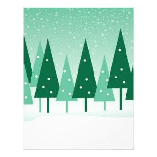 christmas trees 21.5 cm x 28 cm flyer