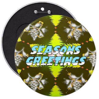 Christmas Trees 6 Cm Round Badge