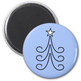 Christmas Trees 6 Cm Round Magnet