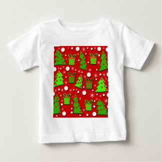 Christmas trees and gifts pattern baby T-Shirt