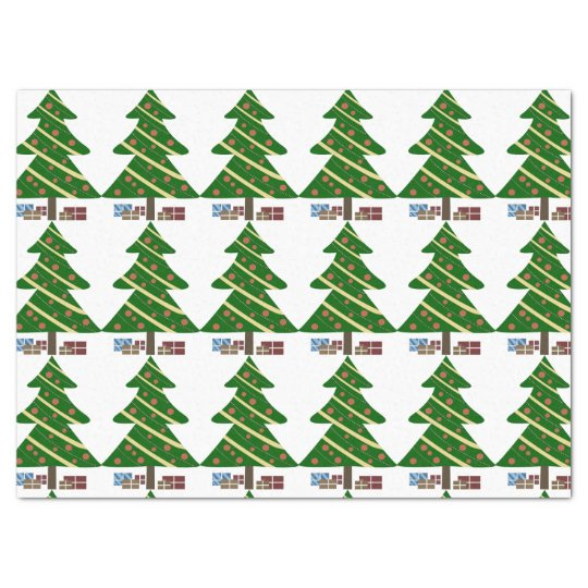 Christmas Trees and Gifts Tissue Paper