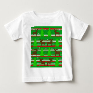Christmas trees and reindeer pattern baby T-Shirt