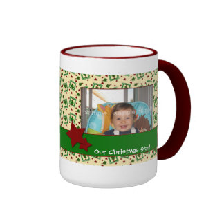Christmas Trees and Stars Photo Mug