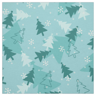 Christmas trees colorful Fabric